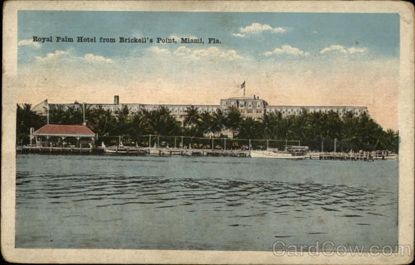 Royal Palm Hotel from Brickell's Point Miami Florida