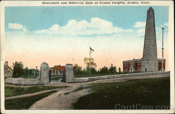 Monument and Memorial Gate at Groton Heights Connecticut