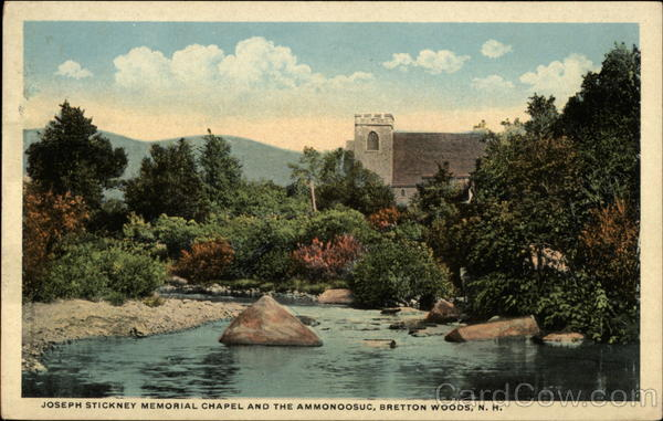 Joseph Stickney Memorial Chapel and the Ammonoosuc Bretton Woods New Hampshire