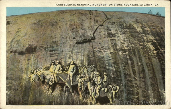 confederate memorial monument on stone mountain atlanta  ga