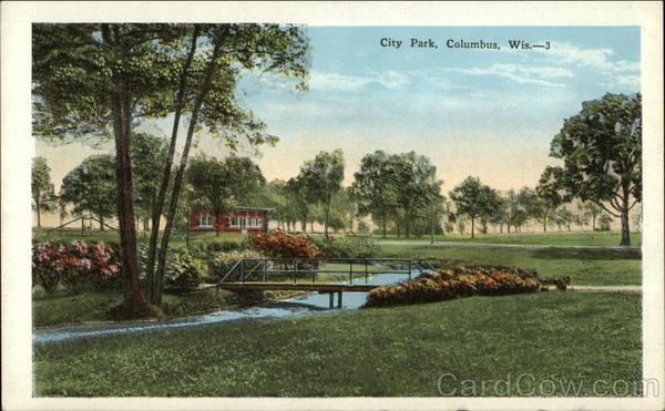 City Park Columbus Wisconsin