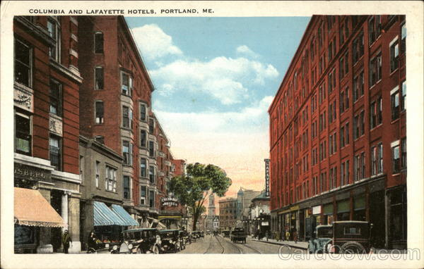 Columbia and Lafayette Hotels Portland Maine