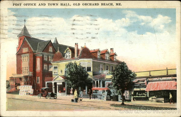 Post Office and Town Hall Old Orchard Beach Maine