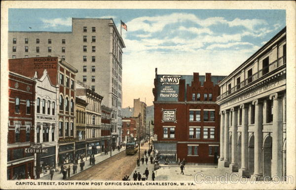 Capitol Street, South from Post Office Square, Charleston, WV West Virginia