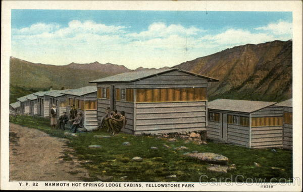 Mammoth hot springs lodge cabins yellowstone national park wy for Cabins in wyoming near yellowstone