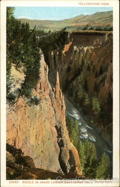 Needle in Grand Canyon near Tower Fall Yellowstone