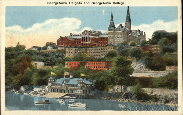 Georgetown Heights and georgetown College Washington District of Columbia