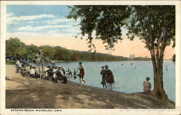 Bathing Beach Waterloo Iowa
