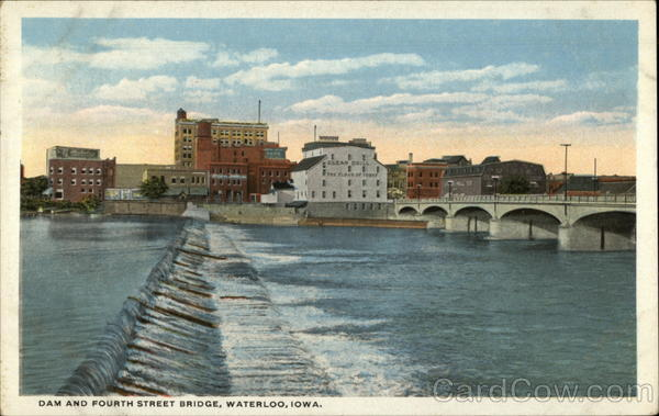 Dam and Fourth Street Bridge Waterloo Iowa