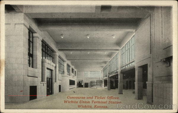 Concourse and Ticket Offices, Wichita Union Terminal Station Kansas