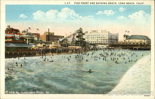 Pike Front and Bathing Beach Long Beach California