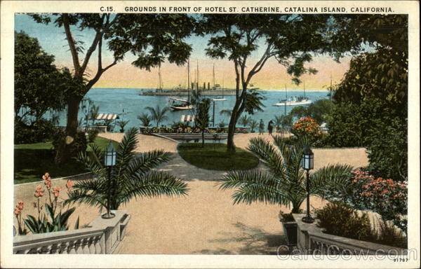 Grounds in Front of Hotel St. Catherine Santa Catalina Island California