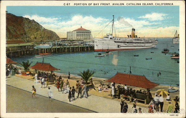 Portion of Bay Front. Avalon Santa Catalina Island California