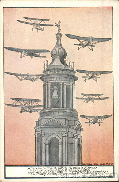 Airplanes flying plast the steeple Aircraft