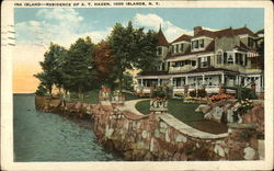 Ina Island - Residence of A.T. Hagen Postcard