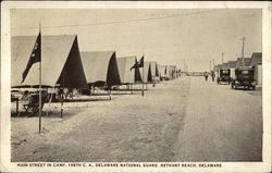 Main Street in Camp, 198th C.A., Delaware National Guard