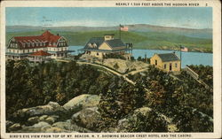 Bird's eye view from top of Mt. Beacon Postcard