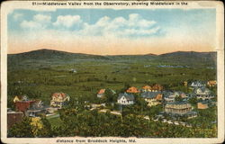 View of Middletown Valley from the observatory