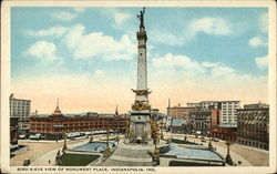 Bird's Eye View of Monument Place Postcard