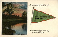 Something is lacking at Bible Conference Postcard