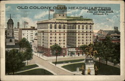 Old Colony Club Headquarters Hotel Richmond, Ninth and Grace Streets