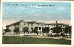 Nellie Sparks Hall and Dormitory, OCW College Postcard