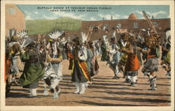 Buffalo Dance at Tesuque Indian Pueblow near Santa Fe, New Mexico