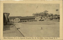 Main Entrance, U.S.A. General Hospital No. 41, Fox Hills