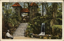 Entrance to Grotto and Falls, Soldiers' Home