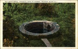 Old Indian Spring, Historical Point of Interest, Prudence Island, RI
