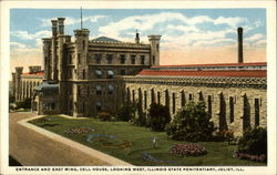 Entrance and East Wing, Cell House, Looking West, Illinois State Penitentiary