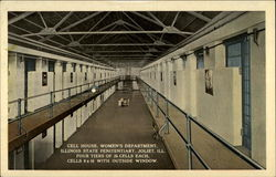 Cell House, Women's Department at Illinois State Penitentiary
