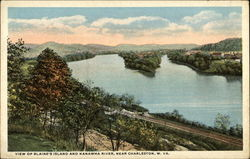 View of Blaine's Island and Kanawha River, Near Charleston, WV