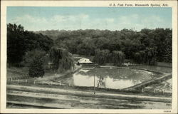 US Fish Farm, Mammoth Spring, ARK Postcard