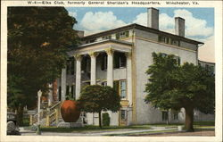 Elks Club, formerly General Sheridan's Headquarters Postcard