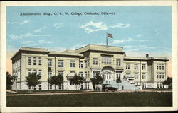 Administration Bldg., O.C.W. College Postcard