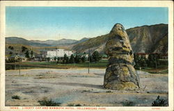Liberty Cap and Mammoth Hotel