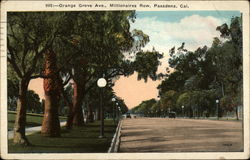 Orange Grove Ave., Millionaires Row