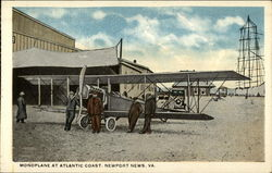 Monoplane at Atlantic Coast Postcard
