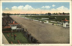Famous Churchill Downs on Derby Day