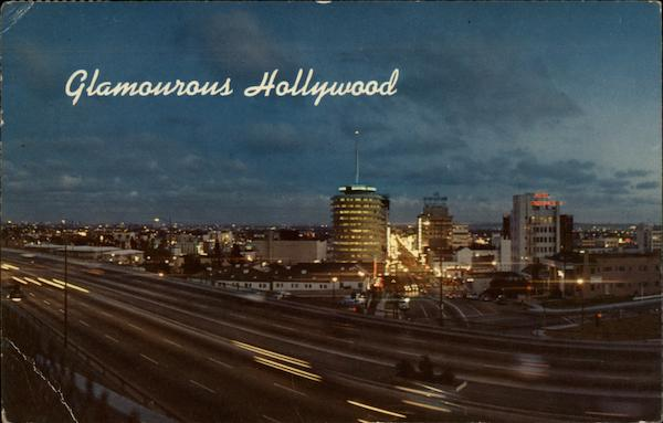 Hollywood Freeway, Hollywood in the Background Los Angeles California