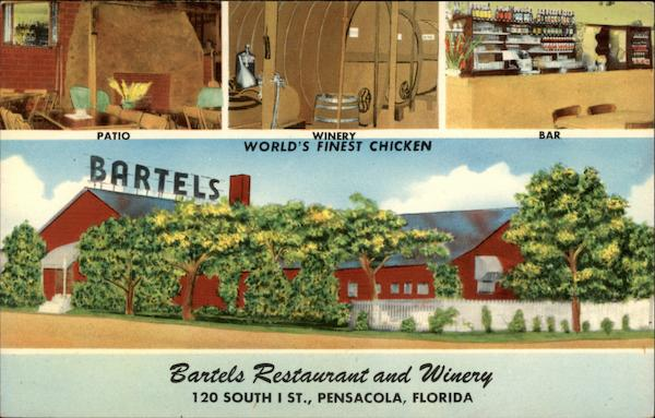 Bartels Restaurant and Winery Pensacola Florida
