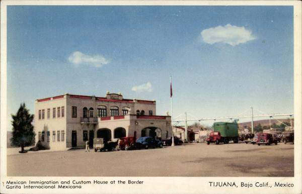 Mexican Immigration and Custom House at the Border Tijuana Mexico
