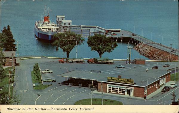 Bluenose At Bar Harbor Yarmouth Ferry Terminal Maine