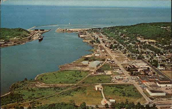 Aerial View of Frankfort, Michigan