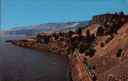 Burlington Northern Railroad along the Columbia River
