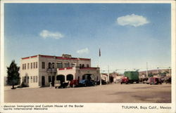 Mexican Immigration and Custom House at the Border Postcard
