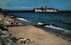 Upper end of bathing beach at Oak Bluffs