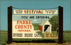 Greetings from Parke County. The Covered Bridge Capital of U.S.A