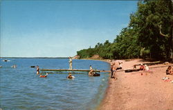 Beach Scene at Lake Bemidji State Park